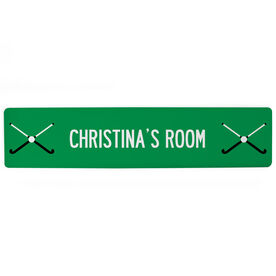 "Field Hockey Aluminum Room Sign - Your Room Field Hockey (4""x18"")"