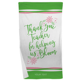 Personalized Teacher Beach Towel - Bloom