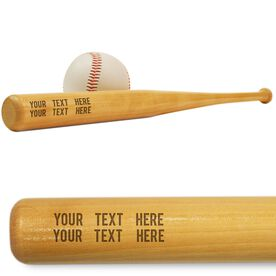 Custom Text Mini Engraved Baseball Bat