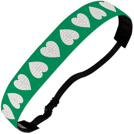 Golf Julibands No-Slip Headbands - Golf Ball Hearts
