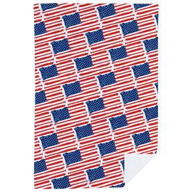 Baseball Premium Blanket - American Flag Bats Pattern