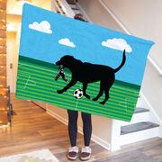 Soccer Premium Blanket - Sammy The Soccer Dog