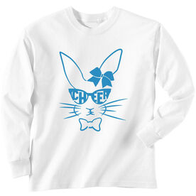 Cheer Tshirt Long Sleeve Hopster Cheer Bunny