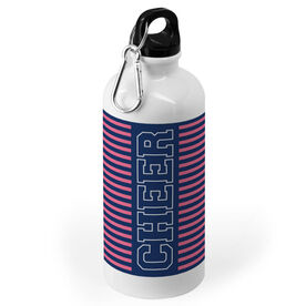 Cheerleading 20 oz. Stainless Steel Water Bottle - Word With Stripes