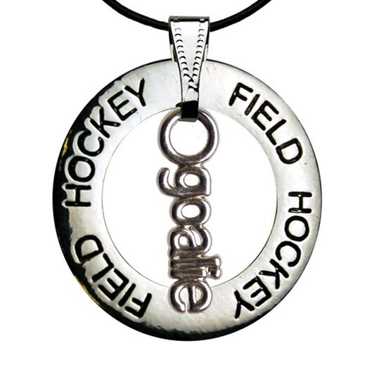Field Hockey Goalie Message Ring Necklace-JU