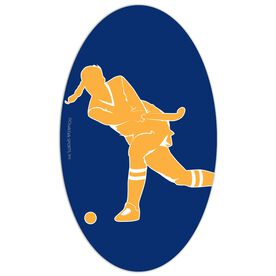 Field Hockey Oval Car Magnet Shooting Player
