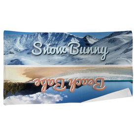 Skiing Beach Towel Snow Bunny Beach Babe