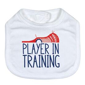 Guys Lacrosse Baby Bib - Player In Training