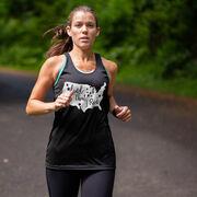 Women's Racerback Performance Tank Top - Land That I Run