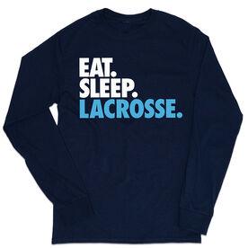 Lacrosse Tshirt Long Sleeve - Eat. Sleep. Lacrosse