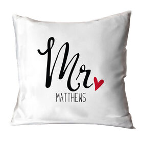 Personalized Throw Pillow - Mr.