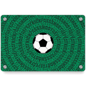 Soccer Metal Wall Art Panel - Mantra Spiral