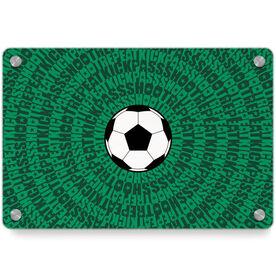 Soccer Metal Wall Art Panel - Mantra Spiral