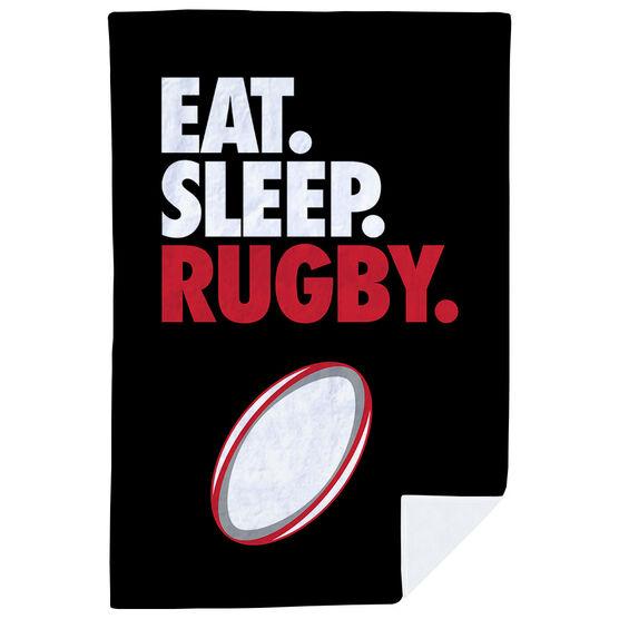 Rugby Premium Blanket - Eat. Sleep. Rugby. Vertical