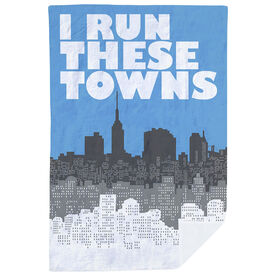 Running Premium Blanket - I Run These Towns (Cityscape)