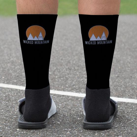 Skiing and Snowboarding Printed Mid-Calf Socks - Your Logo