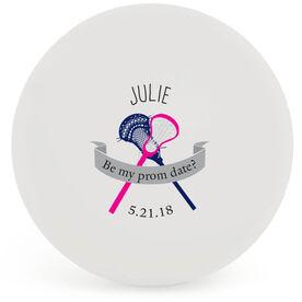 Personalized Prom Invitation Lacrosse Ball (White Ball)