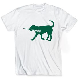 Guys Lacrosse Short Sleeve T-Shirt - Jax The Lax Dog