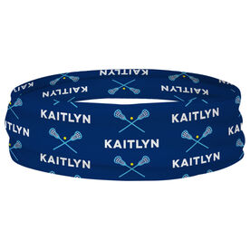 Girls Lacrosse Multifunctional Headwear - Personalized Crossed Sticks RokBAND
