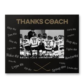 Hockey Engraved Frame - Thanks Coach