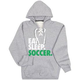 Soccer Sport Lace Sweatshirt Eat. Sleep. Soccer.