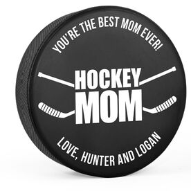 Personalized Hockey Puck - Hockey Mom