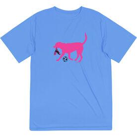 Soccer Short Sleeve Performance Tee - Sasha the Soccer Dog