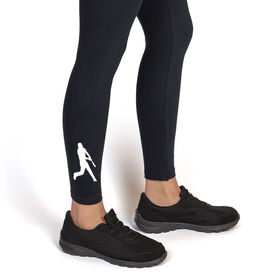 Baseball Leggings - Batter Silhouette