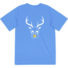 Softball Short Sleeve Performance Tee - Reindeer