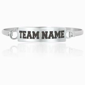 Personalized Engraved Clasp Bracelet Team Name