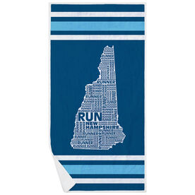 Running Premium Beach Towel - New Hampshire State Runner
