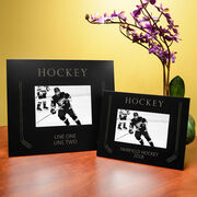 Hockey Engraved Picture Frame Hockey Sticks