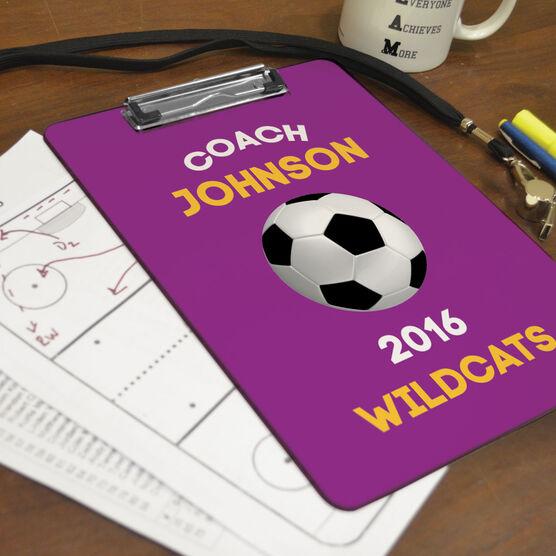 Soccer Custom Clipboard Coach with Soccer Ball