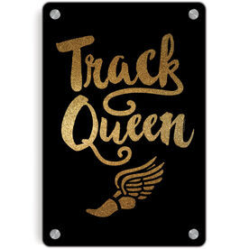 Track and Field Metal Wall Art Panel - Track Queen