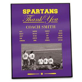 Softball Photo Frame Thank You Coach Roster