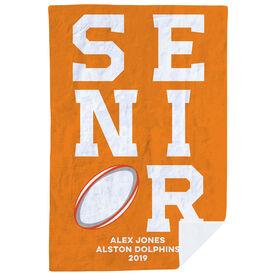Rugby Premium Blanket - Personalized Senior
