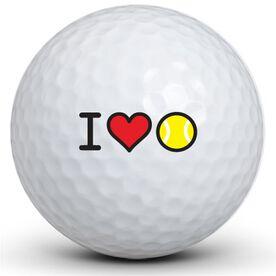I Heart Tennis Golf Balls