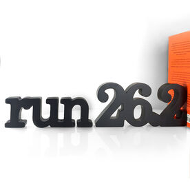 Run 26.2 Wood Words