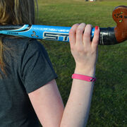 Field Hockey Leather Engraved Bracelet Your Text