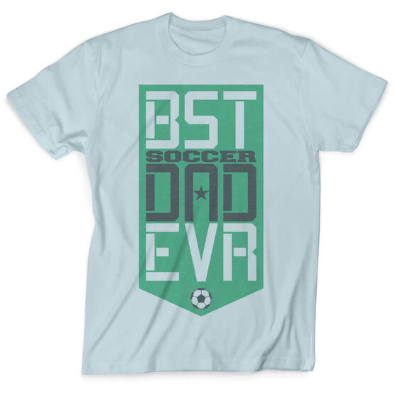 Soccer Vintage T-Shirt - Best Dad Ever Shield