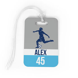 Soccer Bag/Luggage Tag - Personalized Soccer Girl Name and Number