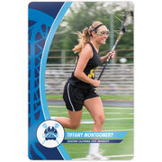 """Girls Lacrosse 18"""" X 12"""" Aluminum Room Sign - Player Photo With Logo"""
