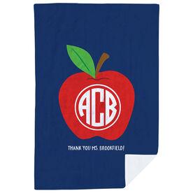 Personalized Premium Blanket - Monogram Apple