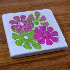 Lacrosse Flower - Natural Stone Coaster