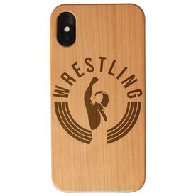 Wrestling Engraved Wood IPhone® Case - Victory Is The Goal