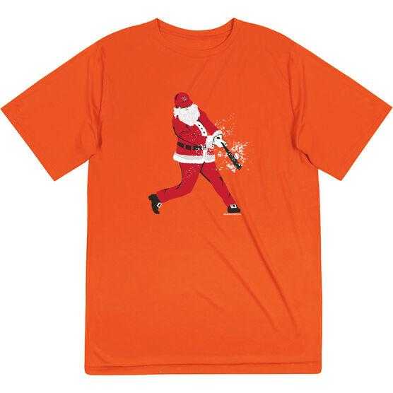 Baseball Short Sleeve Performance Tee - Home Run Santa