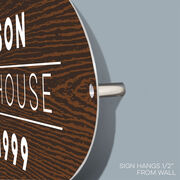Personalized Indoor/Outdoor Oval Sign - Simple Sign with Three Lines of Text