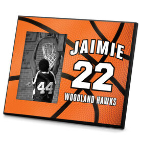 Basketball Photo Frame Personalized Big Number Basketball