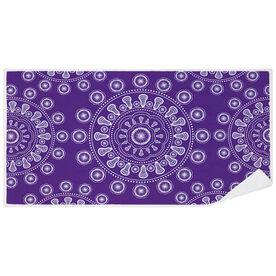 Girls Lacrosse Premium Beach Towel - Lax Mandala