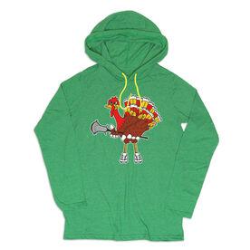 Guys Lacrosse Lightweight Hoodie - Top Cheddar Turkey Tom